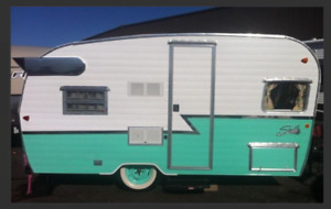 Vintage Style Shasta Trailer for Rent!  Meet Betty-Lou!