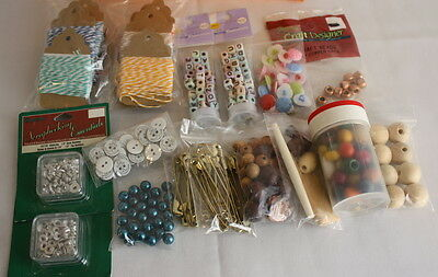 Junk Drawer Jewelry Craft Supplies Beads Buttons Scrapbooking Items - $29.99