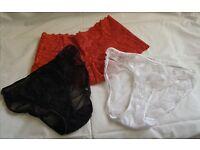 Ladies knickers panties size 16/18