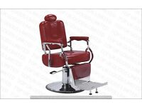 NEW HEAVY DUTY RED BARBER CHAIR BX-2903,CASH ON COLLECTION ONLY UK