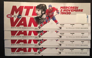 Canadiens Montreal 2 Novembre Canucks Vancouver
