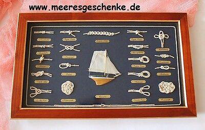 Maritime Deko Knotentafel ca. 51 x 31cm deutsche Bezeichnung