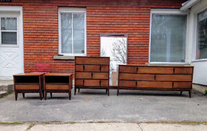 Mobilier Chambre a Coucher Mid Century Noyer Walnut Bedroom Set