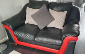 2 Leather Sofas (Three seater and Two seater)