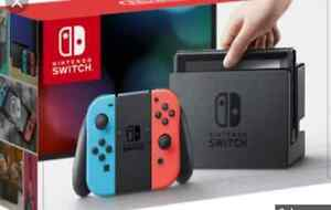 Nintendo switch blue/red pre order