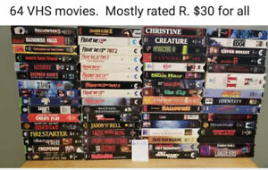 64 VHS TAPES