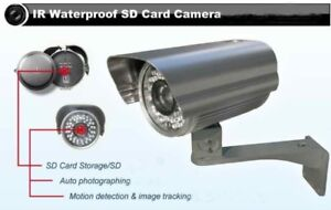 Outdoor Security Camera with  IR & SD Card Recorder