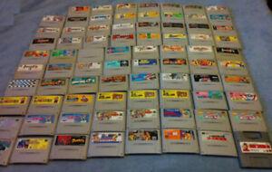 Loose Nintendo Super Famicom Games (SNES)
