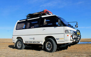 1992 Mitsubishi Delica Exceed High Crystal Lite Roof Camp