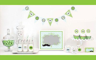 Little Man Birthday Party Baby Shower Decorations Starter Kit - Little Man Birthday Party