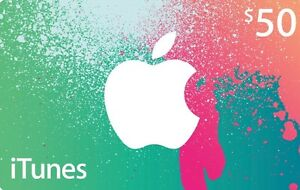 $50 iTunes Gift Card for $25