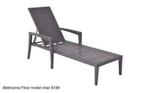 Aluminum Lounge & Dining Chair Floor Model Clearance Sale