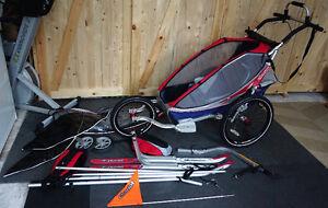 Chariot CX1 + kits SKI / vélo / jogging / marche / hamac INCLUS