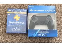 Brand new both sealed ps4 controller & 3 months membership