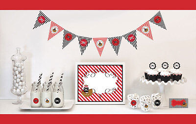 Pirate Theme Birthday Party Baby Shower Decorations Starter Kit - Pirate Themed Birthday Parties