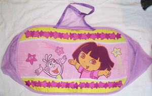 Large Dora Mesh 2 Compartment Laundry or Toy Bag / Basket Zipper