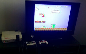 Nintendo NES with Super Mario Bros new 72 pin 3 controllers