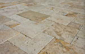Travertine Patio Paver Stones - Approx 400 sqft