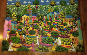 Colorful Dominican Canvass Art