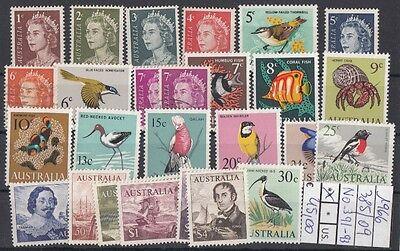 Australia 1966 385-09 (tranne 391 e 393) Mnh