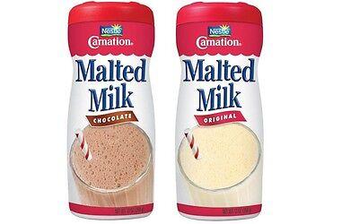 Malted Milk 13oz Carnation 2 jars Original & Chocolate