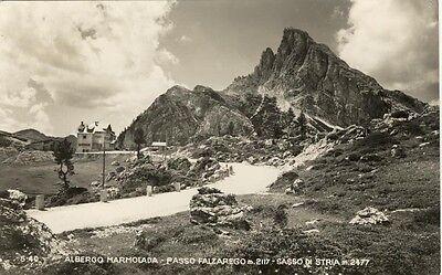 ALBERGO MARMOLADA PASSO FALZAREGO VIAGGIATA 1952