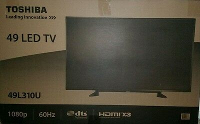 "Toshiba 49""(48.5"" Diag.) LED 1080p HDTV 49L310U Black NIB Sealed Free Pick-Up"