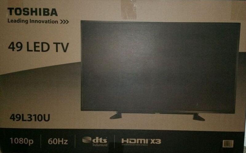 """Toshiba 49"""" Class (48.5"""" Diag.) LED 1080p HDTV Black 49L310U"""