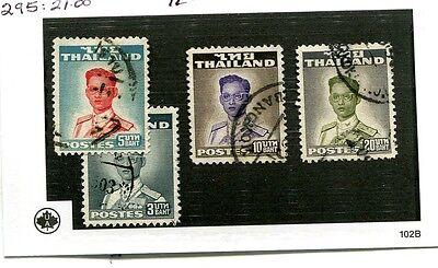 THAILAND SCOTT 292 - 295 KING RAMA IX 4 STAMP LOT CANCELLED 3010J