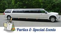 Cheap limo budget  stretch limousine service for all events