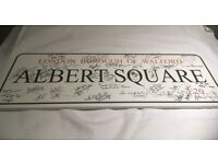 Signed Albert Square street sign OPEN TO OFFERS