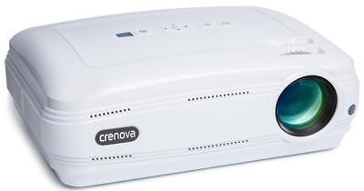 Videobeamer 1080P HD Beamer Videoprojektor mit Fernbedienung tragbar
