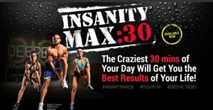 45$ Insanity Max 30 ou Reguliere Version Deluxe 13 Dvds. Neuf.