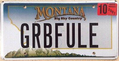 Montana vanity GRAB Life FULLY license Plate Live Hands Enjoy Love