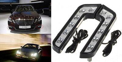 2PCS 6LED Super White Car Driving Lamp Fog 12V DRL Daytime Running Light ACI X