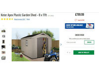 New garden shed, still in boxes