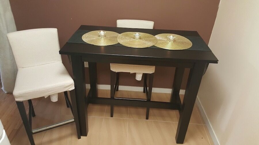 Ikea Stornas Bar Table 2x Henriksdal Stools 150 Ono