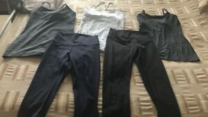 Lululemon tops and crops size 6
