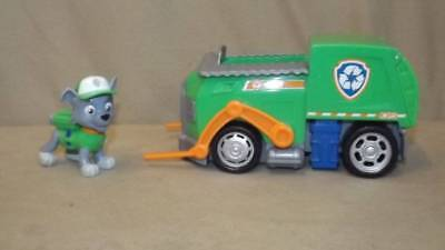 PAW PATROL Rocky's Recycling Truck Vehicle & Rocky Figure PP Toy Spin Master