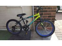 Zinc Childs Mountain Bike. 20 inch wheels. (Suit age: 7 yrs to 10 yrs).