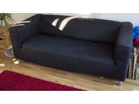 Ikea klippan sofa with black cover