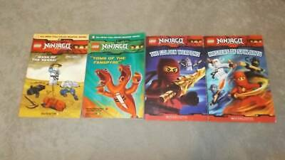 LEGO Ninjago Lot 4 Books 2 Graphic Novels 2 Master of Spinjitzu papercutz