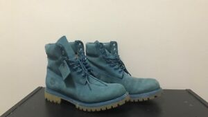 Blue Suede Timberland Boots