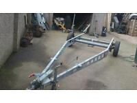 Twin axle braked trailer chassis