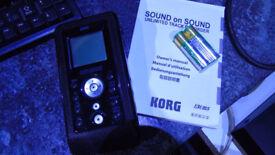 Korg SR1 Sound On Sound Unlimited Track Portable Recorder