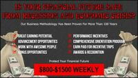Are You Tired of Recessions? $800-$1500 Weekly