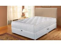 FREE DELIVERY! DIVAN BED DOUBLE/SINGLE/KING WITH MATCHING HEADBOARD & DRAWERS