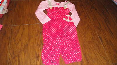 HARAJUKU MINI 18M 18 MONTHS PINK POLKA DOT SAILOR ANCHOR OUTFIT