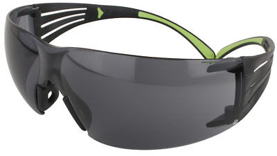 3m Securefit Safety Glasses With Blacklime Temples And Gray Anti-fog Lens