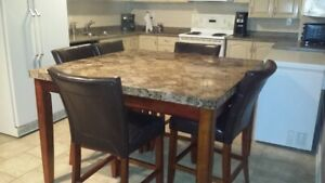 Marble Pub style dining table